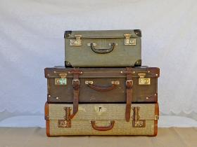 Vintage suitcases for hire high tea hire napier ne