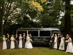 Room for the whole wedding party in the Limo