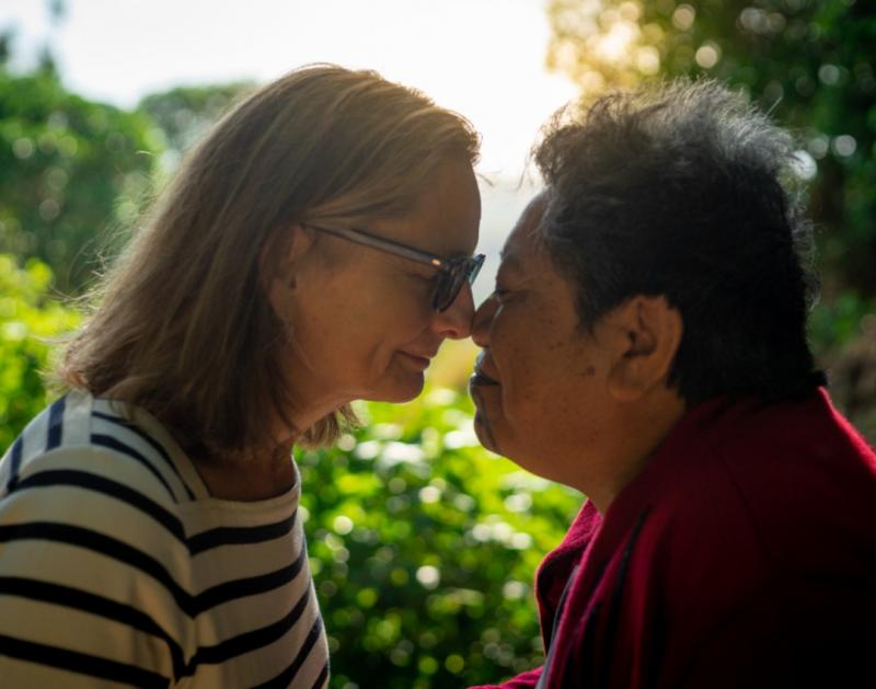 Sharing the breath of life - Hongi