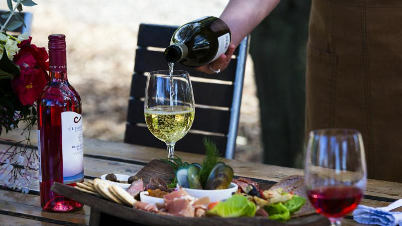 Enjoy al fresco dining matched with our wines