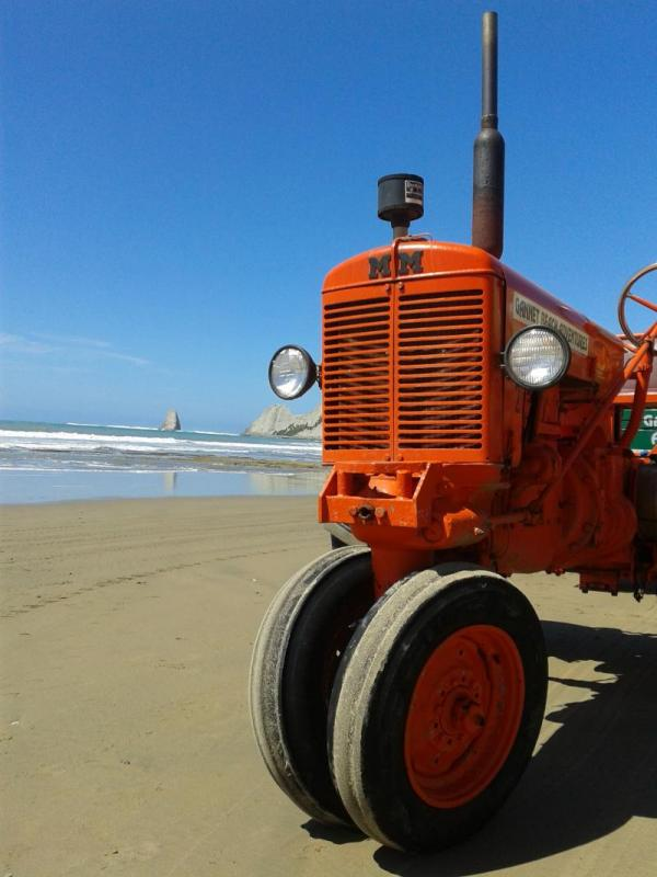 One of our vintage tractors on the job